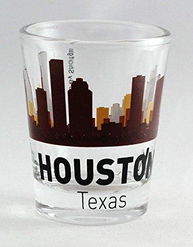 Houston Texas Sunset Skyline Shot Glass (Houston Texas Skyline)