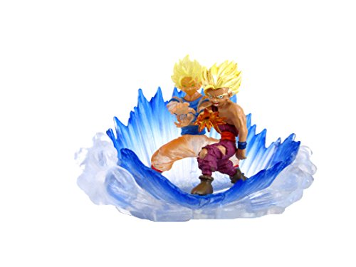 Dragon Ball Z Statues - Bandai Dragonball Z Gashapon HG 10 Mini Figure- Super Saiyan 2 Goku Vs Gohan