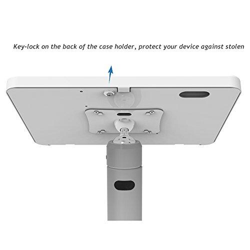 iPad Floor Stand Kiosk 360 Swivel for iPad Pro 9.7,Air 1,Air 2,iPad 5th/6th,Anti-Theft,Key Lock,Metal,White,BSF301W - Beelta by Beelta (Image #3)