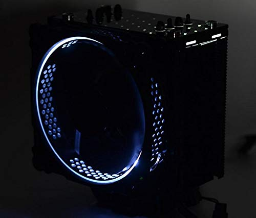 Color: White Fevas Jonsbo CR-201 PC Computer CPU 12cm 4 Heat Pipe Pwm 4 Pin Heat Pipe Radiator Cooler Radiator Led Fan Support LGA775 115x A M D