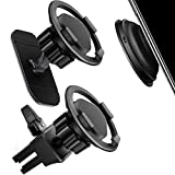 imluckies Mount for Pop Socket [2 Pack], Upgrade Disc Design Vent Car Mount and 3M Stand for Popsocket, Phone Holder for iPhone, Samsung Note Galaxy, LG