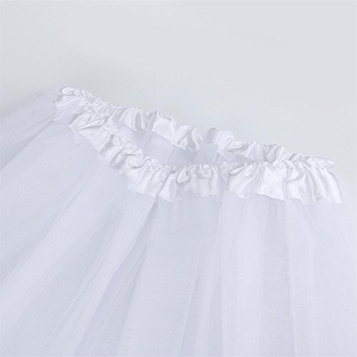 Pleated Hot Tutu Dress Sale Womens Skirt Dancing Adult TIFENNY mesh Waist Solid Mesh Half High White Gauze qqBvOr