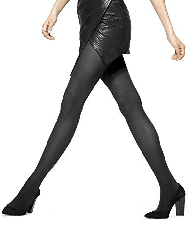 HUE Women's Opaque Control Top Tight, Black, Size ()