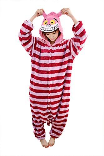 Cheshire Cat Shoes Adult (SaiDeng Warm Unisex-adult Kigurumi Onesie Clothing Adult Cosplay Style Pajamas S Cheshire Cat)