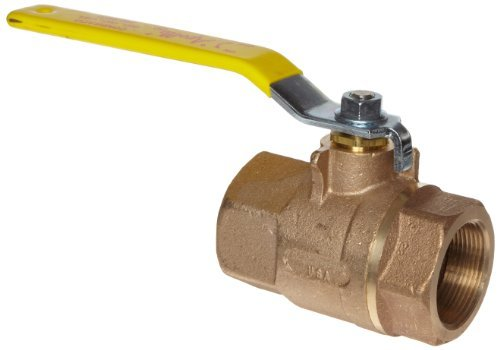 Apollo 70-140 Series Bronze Ball Valve with Stainless Steel 316 Ball and Stem, Two Piece, Inline, 250# Steam Trim, 2 NPT Female by Apollo Valve