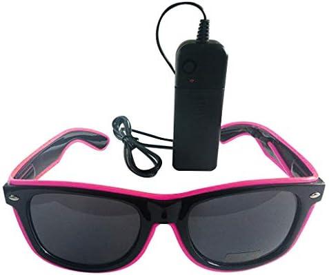 Heatnine Leuchten LED-Brillen, LED-blinkende Sonnenbrillen in 8 verschiedenen Farben Unisex,LED-Sonnenbrillen, blinkende Gläser, Gläser für Party, Geburtstag, Halloween, Weihnachten Gläser