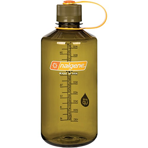 Nalgene Tritan 32 oz Narrow Mouth BPA-Free Water Bottle, Olive