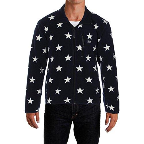 Denim & Supply Ralph Lauren Mens Fleece Printed Jacket Navy XXL
