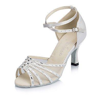 XIAMUO Anpassbare Damen Tanz Schuhe Wildleder Wildleder Latin/Modern/Salsa Heels Stiletto Heel Praxis/innen Blau/Fuchsia, Schwarz, US 6 / EU 36/UK4/CN 36