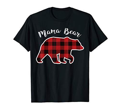 Papa Bear Flannel - MAMA BEAR   Women Red Plaid Christmas Pajama Family Mom Gift