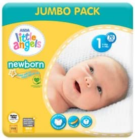 ASDA Little Angels Newborn Nappies Size 1 Big Saver Pack