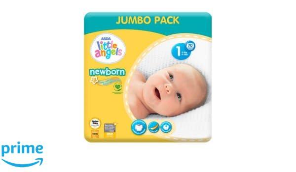 ASDA Little Angels - Pañales para recién nacido, talla 1, paquete de ...