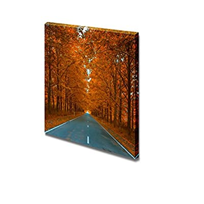 Canvas Prints Wall Art - Autumnal Alley Beautiful Leaves| Modern Home Deoration/Wall Art Giclee Printing Wrapped Canvas Art Ready to Hang - 16