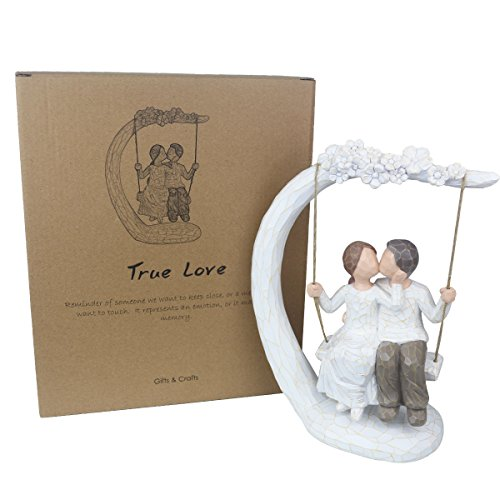 Together Figure, 9Inch Hand-print Together Love Couple Figurines Anniversary Gifts for a Couple, Newlyweds, Wedding Couple, Husband and Wife