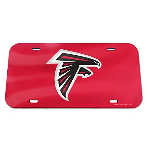 Mirror Acrylic License Plates (NFL Atlanta Falcons Crystal Mirror Logo License Plate, Team Color, One Size)