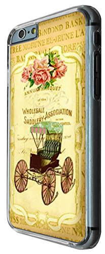 533 - Vintage Shabby Chic Victorian Floral Roses Old Vitage Carrier Design iphone 6 6S 4.7'' Coque Fashion Trend Case Coque Protection Cover plastique et métal