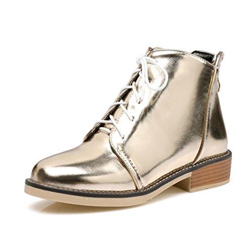 elegante de cabeza Taiwán con Martin Invierno frontal e correa redonda cortas botas Golden grueso con QXOtoño una ZQ sujeción impermeable botas BqPOOw