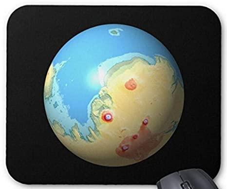 Amazon.com : Mouse Mat Mars Mola map after terraforming in ... on borealis basin on mars, detailed map of mars, map of a trip to mars, political map of mars, map of mars space, map of mars land, modern map of mars, map of mars with water, terraforming of mars,