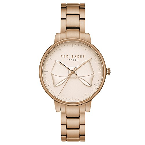 Ted Baker Women's Brook Quartz Watch with Stainless-Steel-Plated Strap, Rose Gold, 14 (Model: TE15197002) (Ted Baker Bow)