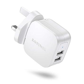 RAVPower - Cargador de Pared USB para teléfonos móviles y ...