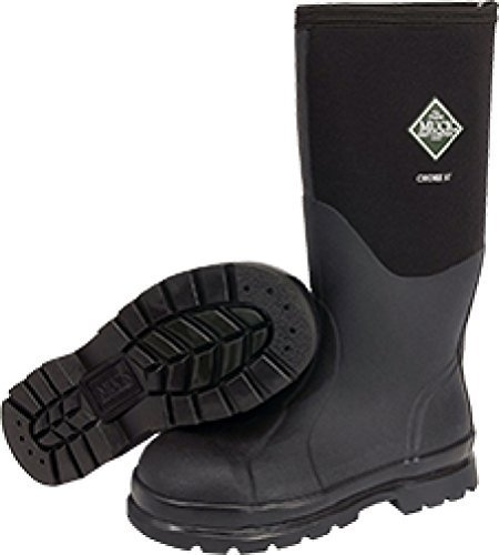 Muck 15 inch Chore Hi All-Conditions Steel Toe Work Boots Black, BLACK, 11M by Muck Boot