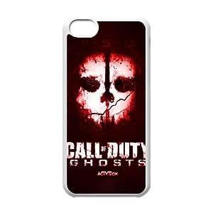 Todos los fantasmas servicio Logo G3V73B8QG funda iPod Touch 6 caso funda MOY5FS blanco