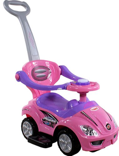 Baby Car - Ride-On - Activity Toy ARTI 381 Mega Car Deluxe Pink with Parent Handle