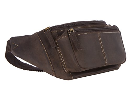 Visconti 720 Leather Waist Pack, Belt Pouch, Fanny Pak, Bumbag (Oil Brown) (Leather Quality Brown)