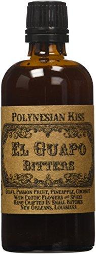 El Guapo Bitters Polynesian Kiss Bitters - Guava, Passion Fruit, Pineapple, Coconut Flavors - 100mL/3.4 fl. Oz