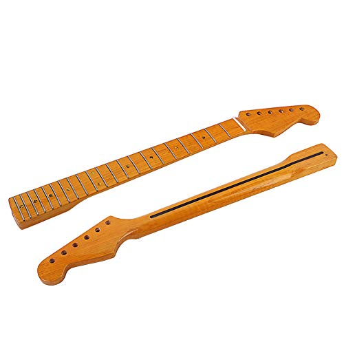 Electric Guitar Neck,hAohAnwuyg Tap Keyboard Instrument,Stylish Wooden 21 Fret Fingerboard Neck Parts Replacement for TL Electric Guitar