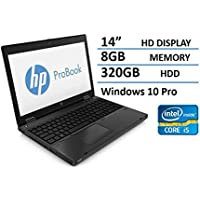 2016 HP Probook 6470B 14 Notebook PC - Intel Core i5-3320M up to 3.3GHz, 8GB, 320GB HDD, DVDRW, Windows 10 Pro (Certified Refurbished)
