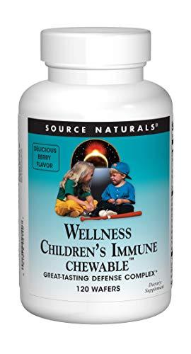 (Source Naturals Wellness Children's Immune Chewable, Great-Tasting Defense Complex, 120 Wafers)