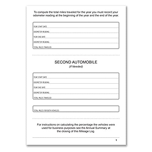 free shipping bookfactory auto mileage log book automobile expense