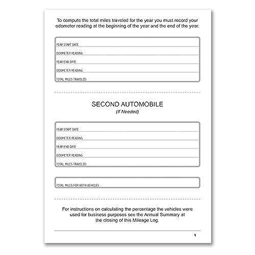 30 off bookfactory auto mileage log book automobile expense record