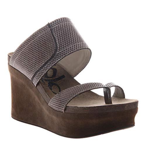 OTBT Women's Brookfield Wedge Sandals - Pewter MESH - 7 M US - Mesh Wedge Sandals