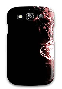 Premium Galaxy S3 Case - Protective Skin - High Quality For Funky Black And Pink Margin