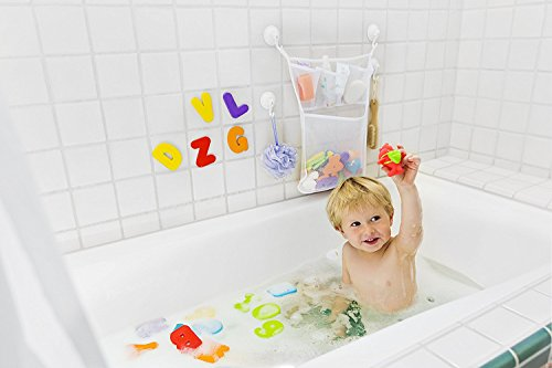 tub cubby bath toy organizer xl baby bath toys bin with. Black Bedroom Furniture Sets. Home Design Ideas