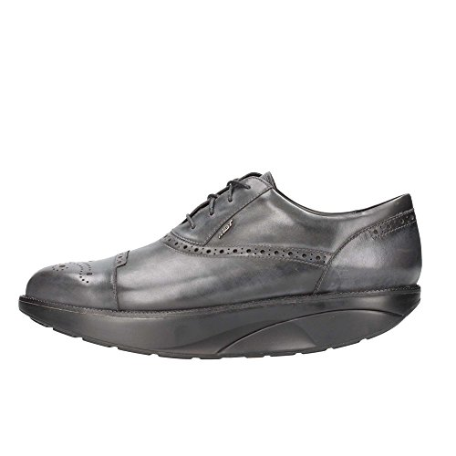 MBT - Hasani Brogue, Stivali Uomo Nero/Grigio (Black/Castle Rock)