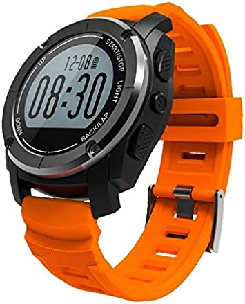HoEOQeT Smart Watch S928 Bluetooth Deportes al Aire Libre Reloj GPS Reloj Deportivo Profesional Bluetooth Reloj Inteligente (Color : Orange)