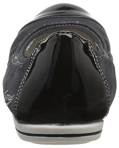 Dockers by Gerli 34FU214 - Bailarinas de material sintético para mujer negro - negro