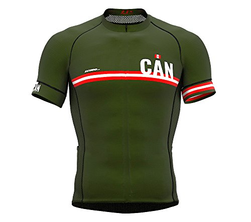 Canada Green Code Short Sleeve Cycling PRO Jersey for Men - Size X-Large