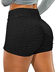 aingycy Workout Shorts for Women Yoga Shorts Sports Shorts High Waist Tummy Control Running Leggings