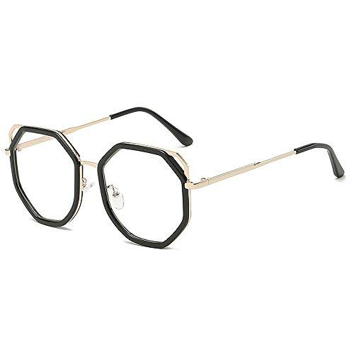 conduce Gafas de sol ULTRAVIOLETA gafas del hombres Retro personalidad las los las de metálico Gafas unisex del de sol de de y Gafas la sol Protección para polígono Clear que par bordeadas marco mujeres sol qqCwagZ