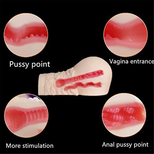 Anal + Vagina Pussy Dual Passageway Sex Doll Big Ass Masturbator Sex Toys for Men,Pussy Ass Penis Massager Masturbation by Dayed Sex Shop (Image #4)