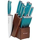 Emojoy Knife Set, 15-Piece Kitchen Knife Set with