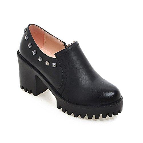de Altos black Alto Tacon DEDE Zapatos Zapatos Bruto Tacones Damas Zapatos de Sandalette Americana de Retro de Europea Zapatos y FzOHvZSvq