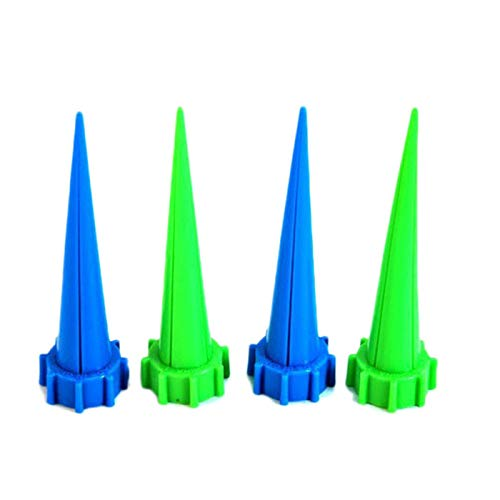 Xindda 4Pcs/lot Garden Bottle Irrigation Cone Watering Spike Plant Flower,Vacation Potted Plant Watering Irrigation Control Valve Switch for Garden Plants Indoor/Outdoor
