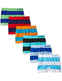 Boy's Pack of 6 Seamless Boxer Briefs Thick Stripes