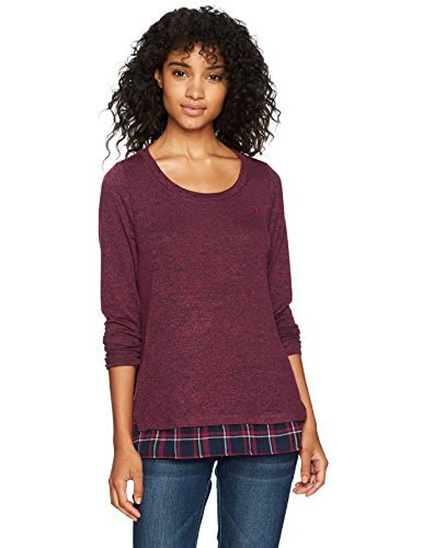 U.S. Polo Assn. para Mujer Pullover Sweater Chamarra sin botón ...