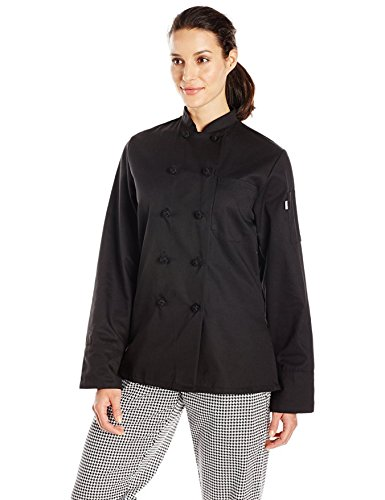 Uncommon Threads Women's Sedona Fit Chef Coat, Black, X-Small by Uncommon Threads